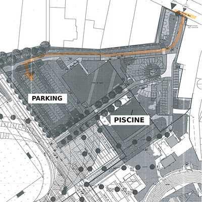 Parking pour la piscine Hélène Boucher