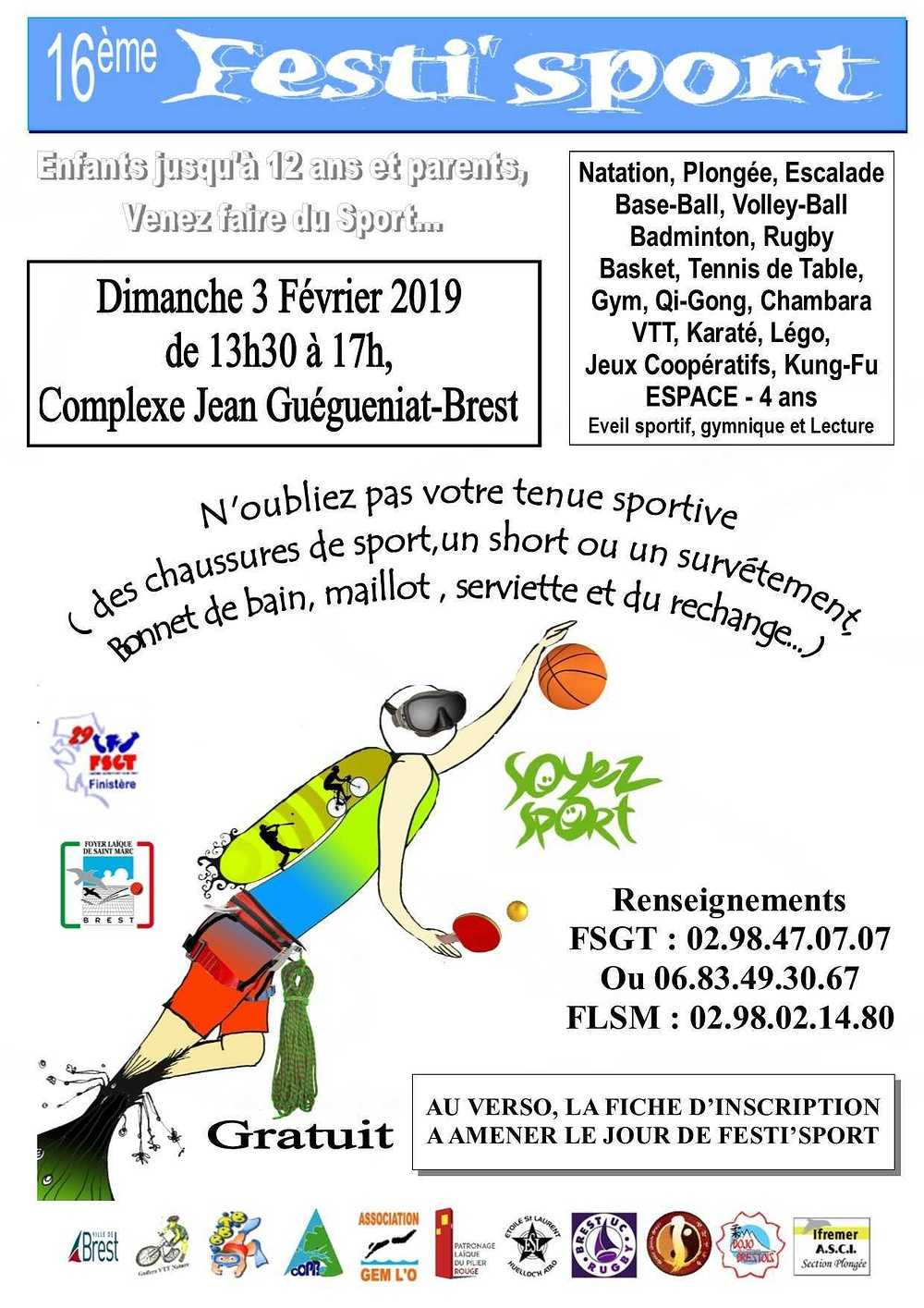 Dimanche 3 février 2019 : flyerrectofestisport2019