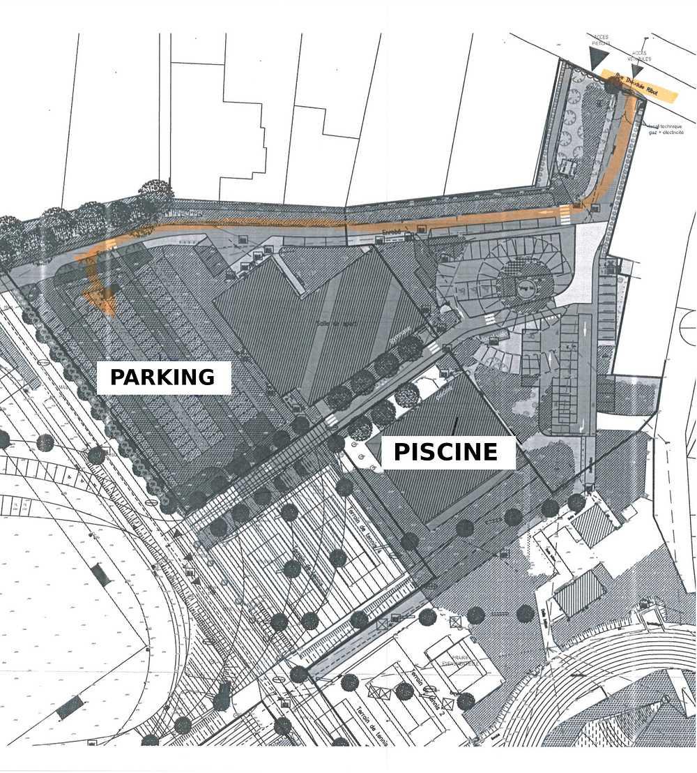 Parking pour la piscine Hélène Boucher 0